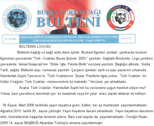 Bursa Türk Ocağı Bülteni