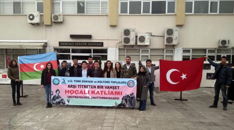Türk Dünyası ve Kültürü Topluluğu ve Genç Kalemler Topluluğu Hocalı Katliamını andı.